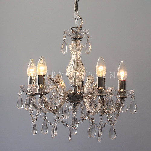 Lexington Home Grace Marie Therese 5 Light Chandelier Chrome