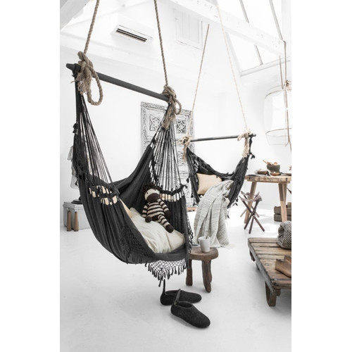 Lexington Home Collection French Provincial Hanging Hammock Chair Charcoal