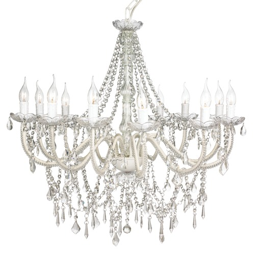 Lexington Home Cassie French Provincial 12 Arm Glass Chandelier Cream