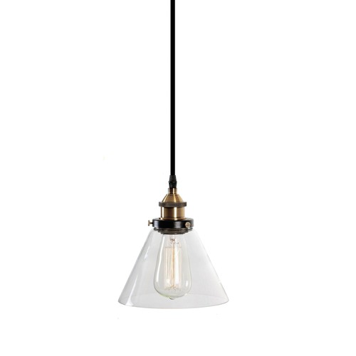 Lexington Home Sophie Glass Pendant Light with Brass Fittings