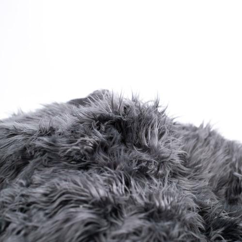 Lexington Home Charcoal Lush Faux Fur Beanbag Cover
