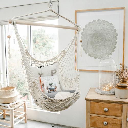 Lexington Home Salvador Hand-Woven Cotton Hammock Chair