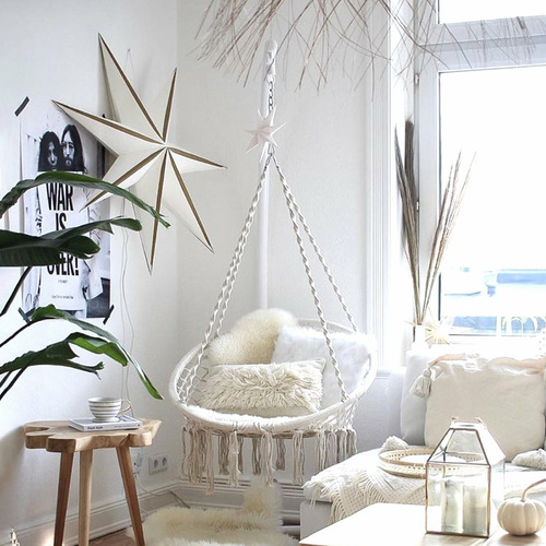 Lexington Home Madrid Macrame Cotton Hammock Chair
