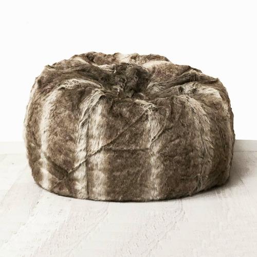 Brown Palomino Faux Fur Beanbag Cover