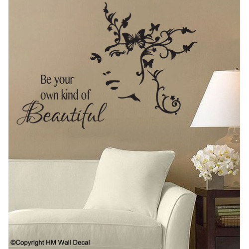 HM Wall Decal Be Your Own Kind Of Beautiful DIY Wall Art Decal Set
