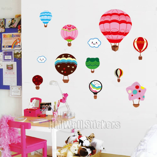 HM Wall Decal Hot Air Balloons Kids Wall Sticker Part 82