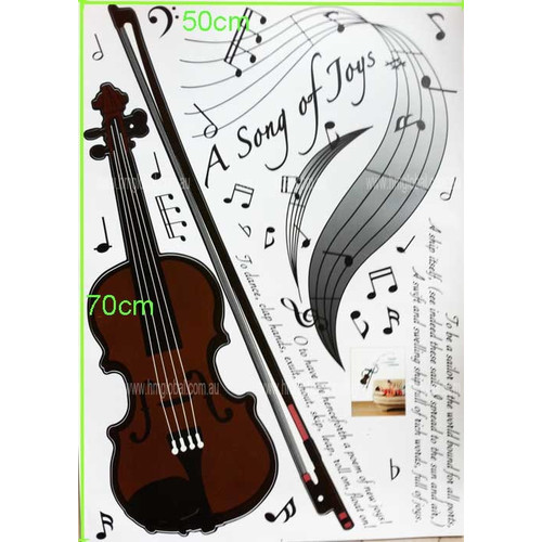 Violin Music Symbols Song Of Joy Removable Wall Decal Temple