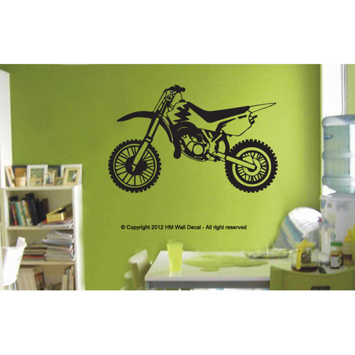 Dirt Bike Wall Sticker Temple Amp Webster