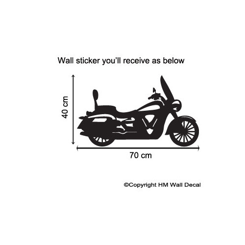 HM Wall Decal Bike Removable Wall Art Decal
