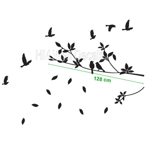 HM Wall Decal Birds with Branch Wall Art Decal