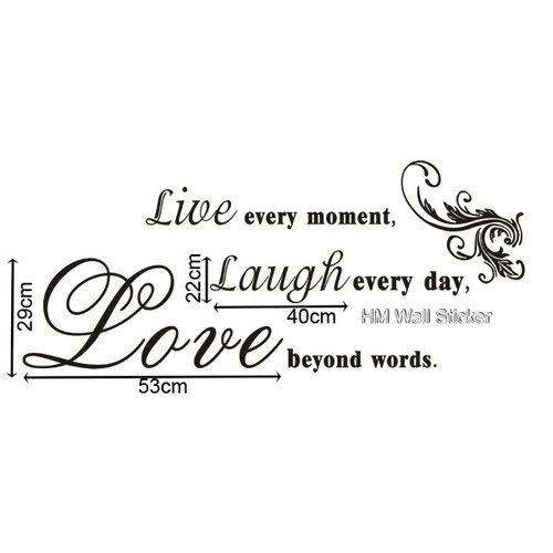 HM Wall Decal Live Every Moment, Laugh Every Day, Love ...