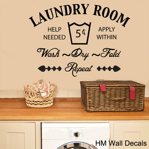 HM Wall Decal The Laundry Room Removable Wall Sticker Part 9