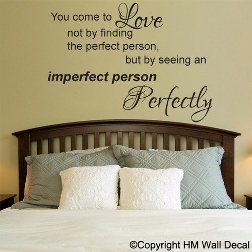 Love Quotes Wall Decals Alluring Love Quote Inspiration Diy Removable Wall Sticker  Temple & Webster