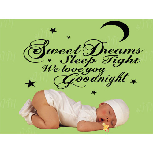 Sweet Dreams Sleep Tight We Love You Goodnight Wall Quote