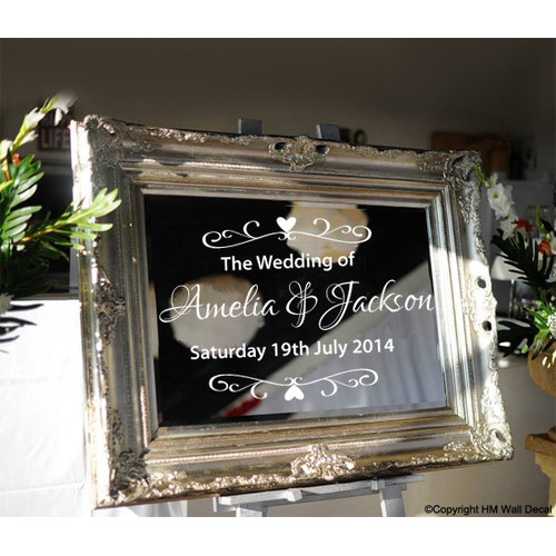Personalised Wedding Welcome Mirror Sticker Temple Amp Webster