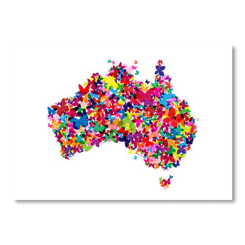 Americanflat Australia Map Butterfly Wall Art & Reviews