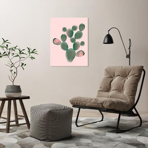 Americanflat Watercolour Cactus Printed Wall Art
