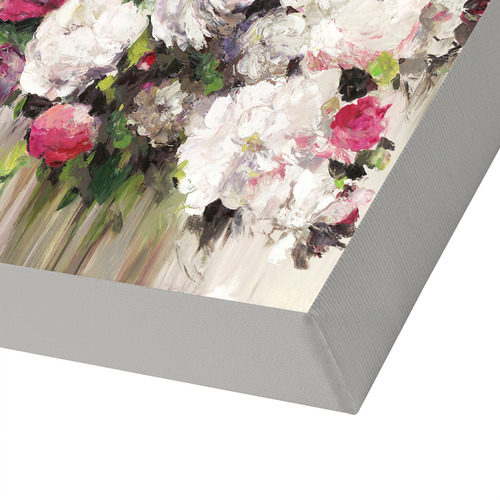 Americanflat Bouquet of Pink Flowers Printed Wall Art