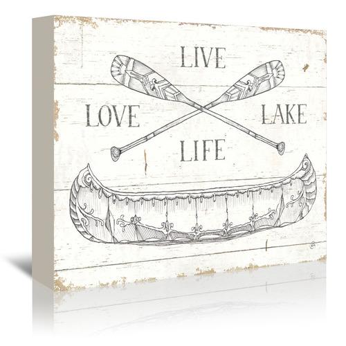Lake Sketches III Printed Wall Art