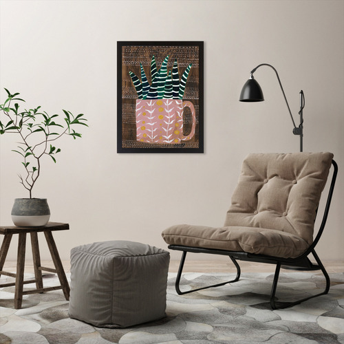 Americanflat Succulent Cup Printed Wall Art