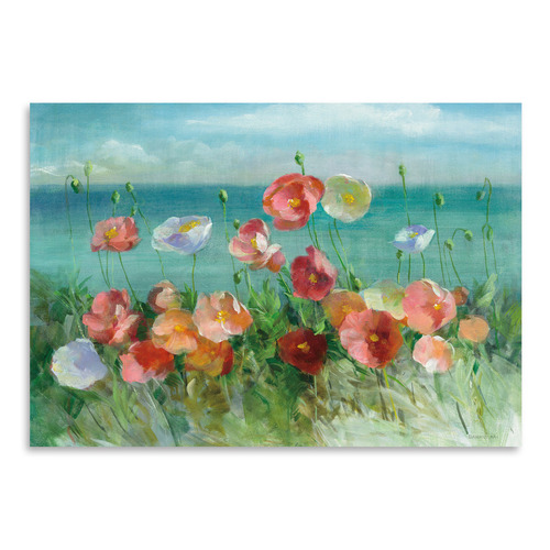Americanflat Coastal Poppies Printed Wall Art
