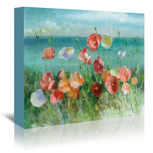 Americanflat Coastal Poppies Printed Wall Art