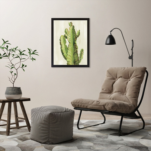 Americanflat Front Yard Cactus II Printed Wall Art