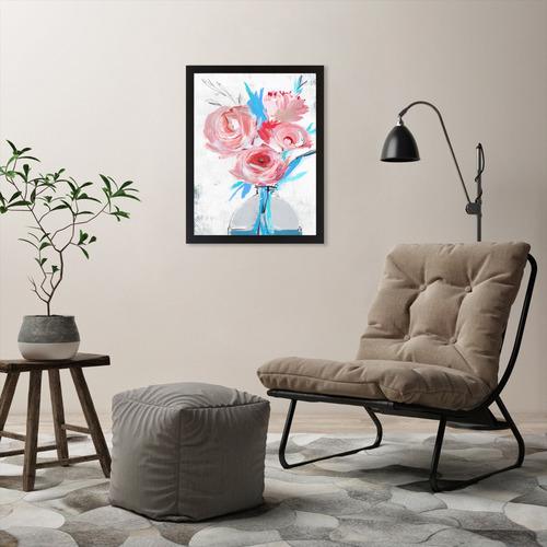 Blue Vase II Printed Wall Art