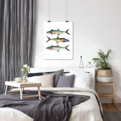 Americanflat 3 Spanish Mackerel Printed Wall Art
