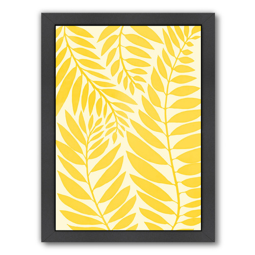 Americanflat Golden Yellow Leaves Printed Wall Art