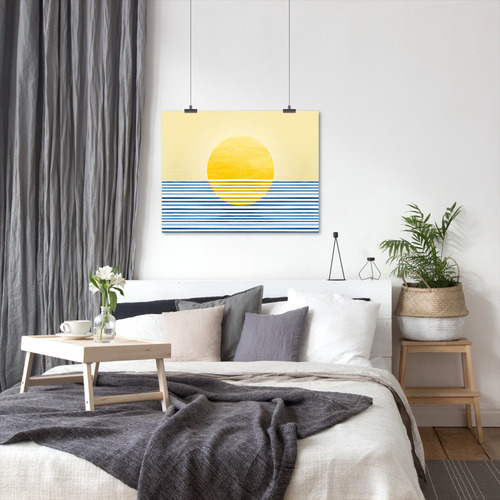 Americanflat Sunrise Abstract Printed Wall Art