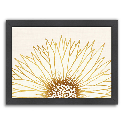 Americanflat Simple Sunflower Printed Wall Art