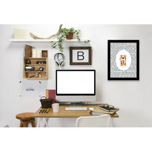 Americanflat Tribal Tiger In Oval Printed Wall Art