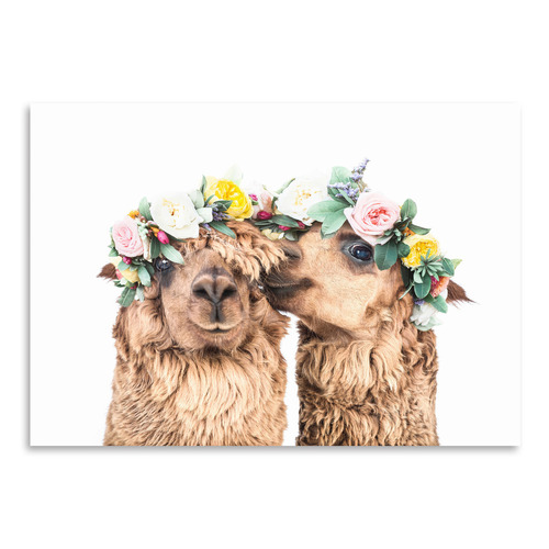 Americanflat Alpaca Love Printed Wall Art