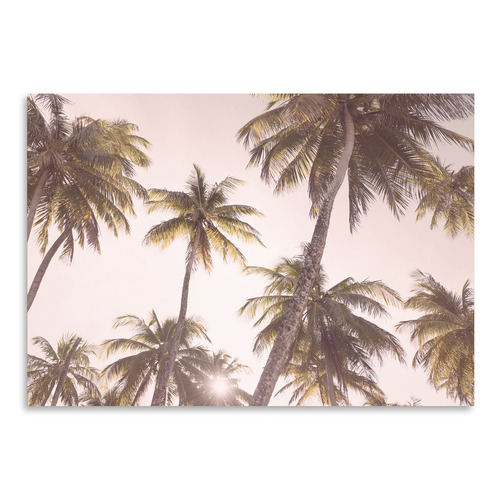 Americanflat Blush Palms Printed Wall Art