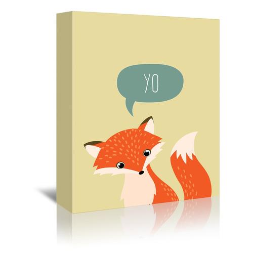 Americanflat Woodland Fox I Printed Wall Art