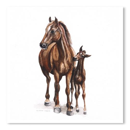 Americanflat Hogsback Horses Printed Wall Art