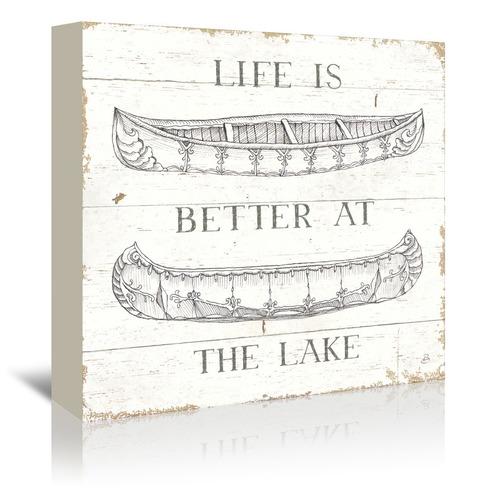 Americanflat Lake Sketches V Printed Wall Art