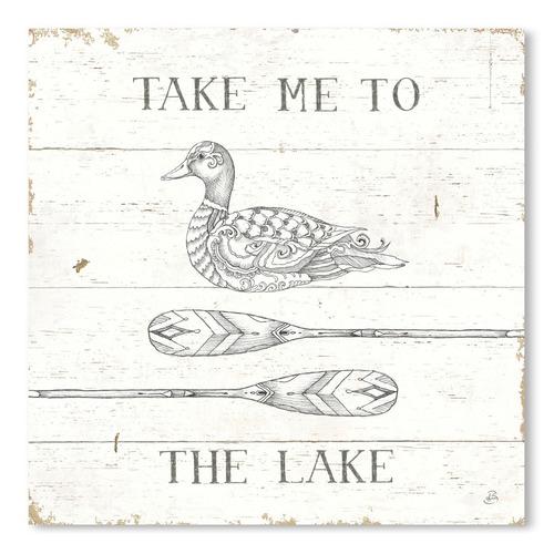 Lake Sketches VII Printed Wall Art