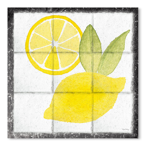 Americanflat Citrus Tile VI Black Border Printed Wall Art