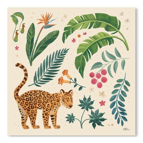 Americanflat Jungle Love IV Cream Printed Wall Art