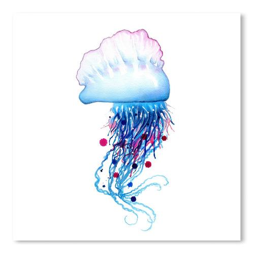 Americanflat Man O'War Jellyfish Square Printed Wall Art