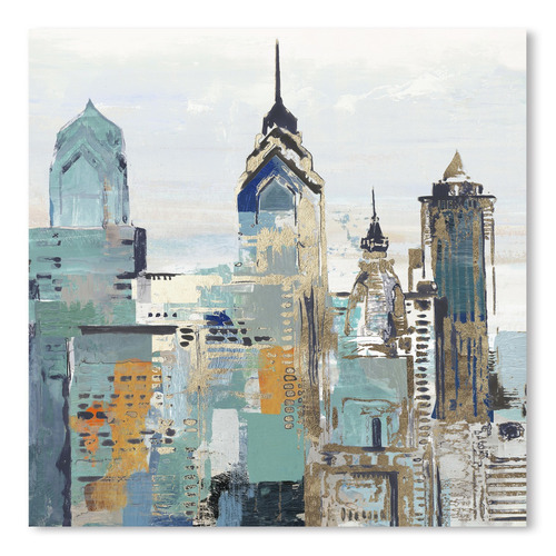 Americanflat Teal City II Printed Wall Art
