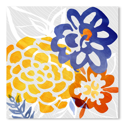 Americanflat Bright Floral Abstract Printed Wall Art