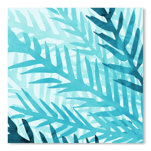 Americanflat Misty Jungle Morning Printed Wall Art