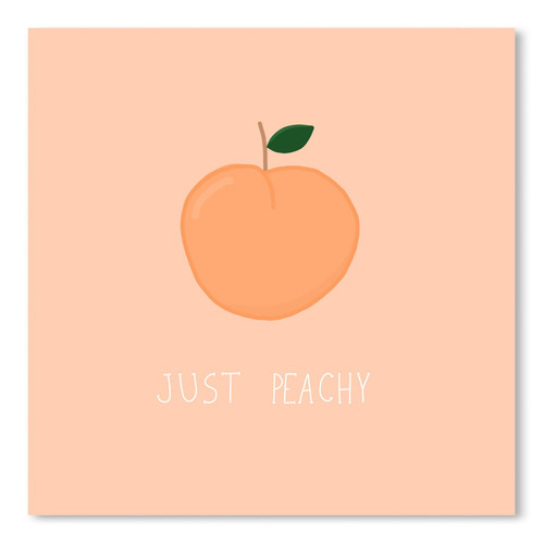 Americanflat Just Peachy Printed Wall Art
