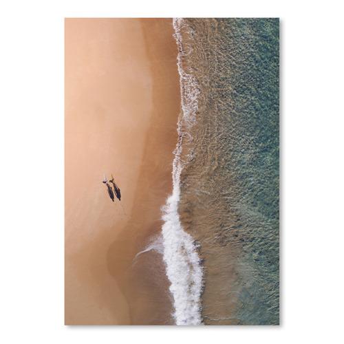 Americanflat Bronze Ocean Beach Printed Wall Art