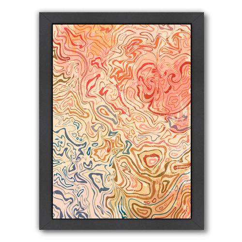 Americanflat Marbled Printed Wall Art