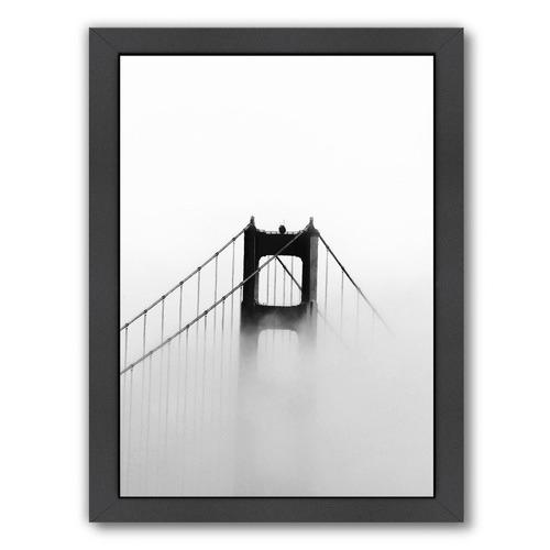 Americanflat Golden Gate In Fog Printed Wall Art