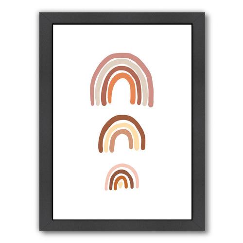 Three Boho Rainbows Printed Wall Art
